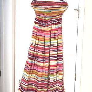 Dresses & Skirts - Long strapless Colorful Dress